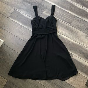 Limited chiffon black party cocktail dress sz 0
